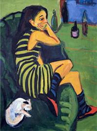 Artista. Marcella, 1910. Ernst Ludwig Kirchner.