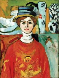 La muchacha de los ojos verdes, 1908. Henri Matisse.
