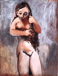 Desnudo peinándose (Fernande), 1906. Pablo Picasso.