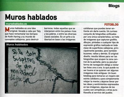 Muros hablados entre los 100 mejores Blogs en castellano