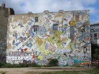 Muro pintado en Tacheles
