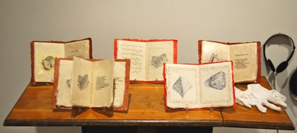 Stone Books #1-5, 2008-9. Barbara Siegel.