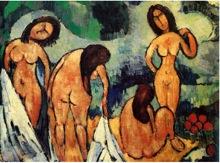 maurice de Vlaminck. Las bañistas, 1907-1908. Únicamente para ilustrar el post.
