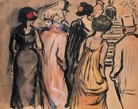 La escalera de la ópera, 1901. Kees Van Dongen. Únicamente para ilustrar el post.