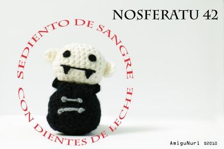 Versión amigurumi de Nosferatu, by NuriArT