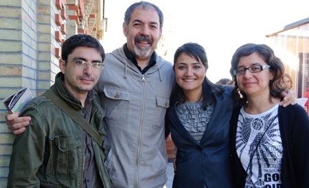 Walter Astrada, Juan Medina, Mayte Carrasco y Núria Rodríguez el día de la inauguración. Fotografía de Fran Simó.