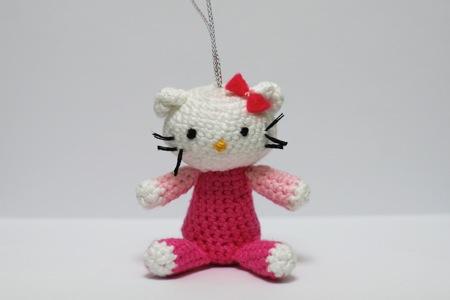 Versión amigurummi 2 de Hello Kitty, by NuriArT