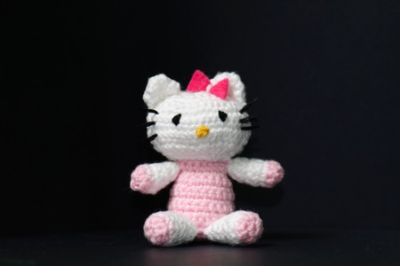 Versión amigurumi 1 de Hello Kitty, by NuriArT