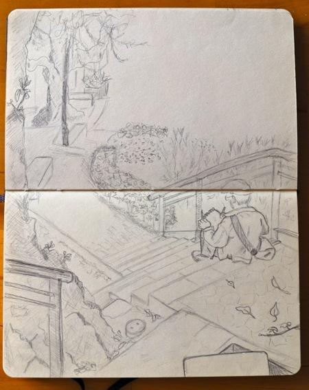 Dibujo en el barrio Es Jonquet