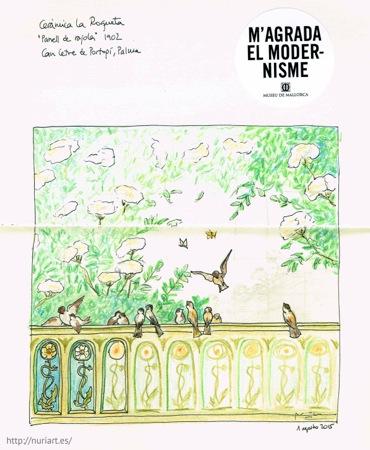 Dibujo realizado en el interior del Museu de Mallorca, en Palma