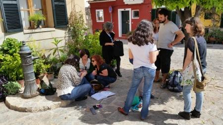 Encuentro dibujantes en Es Jonquet. Foto de Feliu Renom.